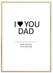 Personlig Tavla - I Love You Dad