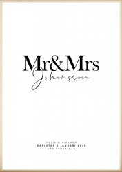 Personlig Tavla - Mr & Mrs