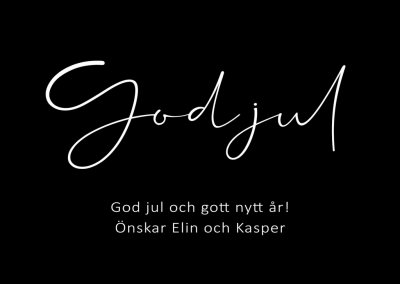 Personlig Flasketikett - God Jul