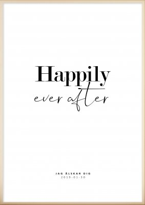 Personlig Tavla - Happily Ever After