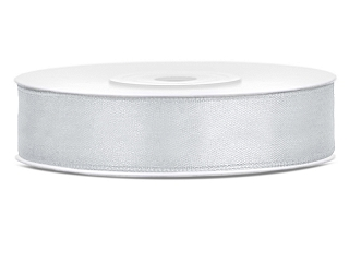 Satinband 12 mm - Silver