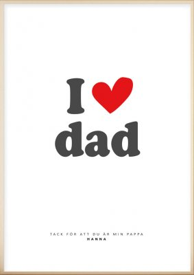 Personlig tavla, I love dad