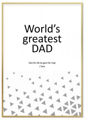 Personlig Tavla - World's Greatest Dad